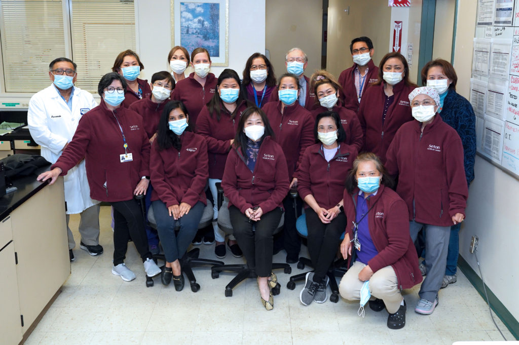 Group of Laboratory Professionals at their workplace at Seton Medical Center